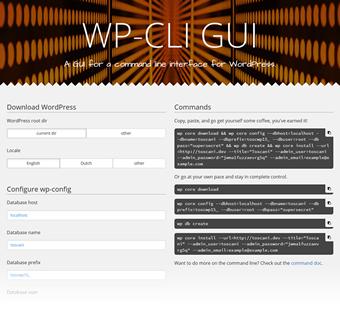 WP-CLI GUI